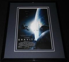 Gravity Framed 8x10 Repro Poster Display Sandra Bullock George Clooney - $32.36