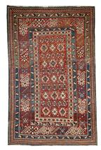 Hand made antique Caucasian Chichi rug 4.2' x 5.5' ( 128cm x 167cm ) 188... - $10,200.00