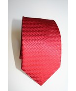 New- One of a Kind Handmade Textured 100% Silk Men's Tie RED - $19.79