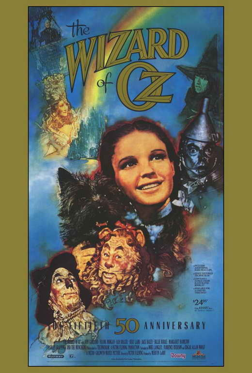 The wizard of oz 50th anniversary poster