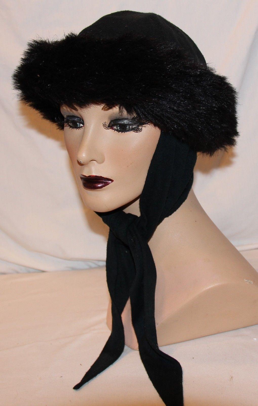 43d92c08211 57. 57. Previous. Betmar Womens Black Hat Attached Scarf Faux Fur Trim Warm  Winter · Betmar Womens Black Hat Attached Scarf ...