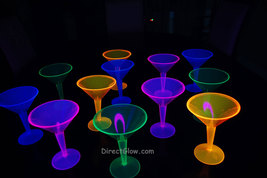 Neon Blacklight Reactive Martini Glasses - 12 ct - $13.95