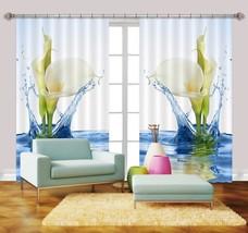 3D River Calla Lily 056 Blockout Photo Curtain Print Curtains Drapes US Lemon - $177.64+