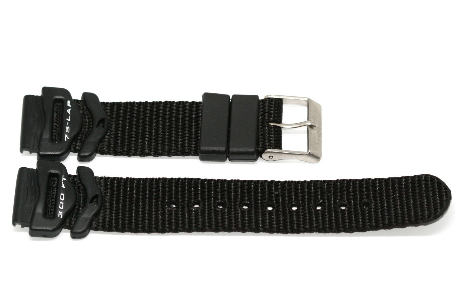 Primary image for FREESTYLE 18MM BLACK NYLON RUBBER WATERPROOF WATCH BAND STRAP