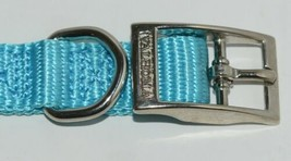 Valhoma 720 12 TQ Dog Collar Turquoise Single Layer Nylon 12 inches Package 1 image 2
