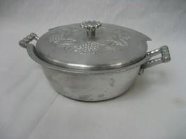 Vintage Everlast Hammered Hand  Forged Aluminum Casserole Serving Dish w... - $16.78
