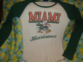 Miami Hurricanes T Shirt Women's Sz L University Of Miami College NCAA  - $21.78