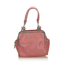 8441906af240 Pre-loved Chanel Pink Lambskin Leather Wild Stitch Handbag Italy - $704.49