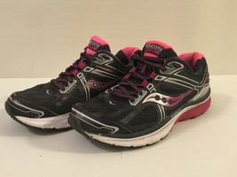 Saucony OMNI15 Women's lace up running athletic shoes size 8.5 Black/Pin... - $19.79
