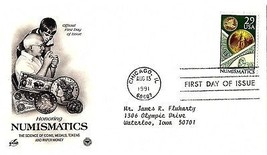 August 13, 1991 First Day of Issue, Postal Society Cover, Numismatics, C... - $1.09