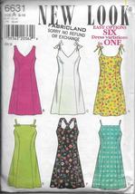 New Look 6631 Women Sun Dress, Six Easy Style Options, Sizes 6 8 10 12 1... - $15.00