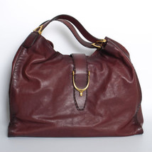 GUCCI Red Calf Leather Shoulder Bag Shopper Tote Hobo Handbag Gold Hardware - $1,527.84