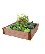 """Classic Sienna Stacking Brackets Raised Garden Bed (4' x 4' x 11"""") - $161.32"""