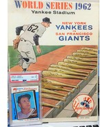 (2)1962 WORLD SERIES PROGRAMS PLUS  A CARD FROM EACH TEAM (PRICE IS PER ... - $99.00