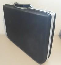 Vintage Samsonite Hard Shell Slim Thin Black Briefcase Attache Brief Cas... - $64.35