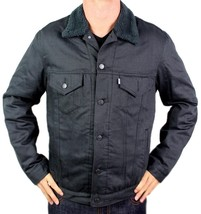NEW LEVI'S MEN'S PREMIUM CLASSIC BUTTON UP GRAPHITE FUR TRUCKER JACKET 705980008