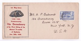 BARBADOS FIRST SITTING OF THE GENERAL ASSEMBLY TERCENTENARY JUNE 16 1939 - $4.44