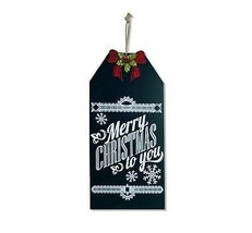"Melrose 19.25"" Merry Christmas to You Hanging Chalkboard Sign Holiday Decor - $21.77"