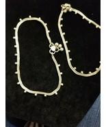 2 Vintage Silver Beaded Navajo bracelets By HJ. Both bracelets are signed. - $394.02