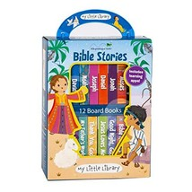 My Little Library Bible Stories 12 Board Books & 3 Downloadable Apps - $17.02