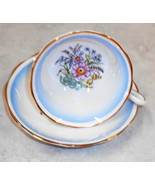 ROYAL ALBERT BONE CHINA ENGLAND CUP & SAUCER FLORAL GLOD TRIM 1935-1940 - $54.45