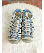Khombu Water Shoes Size 6.5 River Hiking Fishing Tennis Blue Mesh Tan Dr... - $24.75