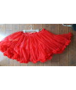 Vintage crinoline square dance slip petticoat huge red skirt 50s circle ... - $40.00