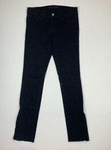 J Brand The Deal Jeans Black Wash Women Sz 28 stretch Side ankle zipper - $46.99