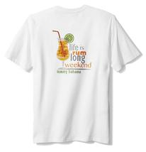 Tommy Bahama Big & Tall Men's Rum Long Weekend T-Shirt , White , 3XLT - $44.54