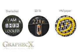 Fan-made Sherlock Holmes 221B sherlocked cosplay inspired personalized b... - $6.50