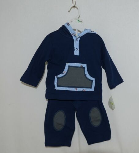 SnoPea Baby Boy Blue Ariplanes Long Sleeve Outfit 12 Months
