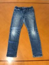 Girls Kids The Gap 1969 Blue Jeans Denim Size 8 Regular Cotton Ripped - $9.89