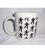 Voodoo Doll Coffee Cup Mug White Black Print Marie Laveau's House of Voodoo - $17.98