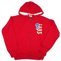 Junior Women's Philadelphia Phillies Hoodie MLB Varsity Zip Hooded Sweatshirt