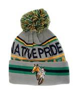 Native Pride Horse Cuffed Knit Winter Hat Pom Beanie (Light Gray) - $12.95