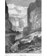 ARIZONA Rockies Marble Canyon - 1883 German Print - $16.20