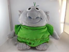 "Disney Store Troll Reversible 11"" Plush Soft snuggly Stuffed Doll grey w green - $8.61"