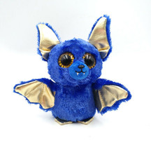 "6"" TY Beanie Boo Ozzy Blue Bat Plush Toys Walgreen's Exclusive Glitter E... - £7.34 GBP"
