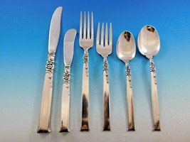 Silver Rose by Oneida Sterling Silver Flatware Set for 12 Service 80 Pieces - $3,850.00