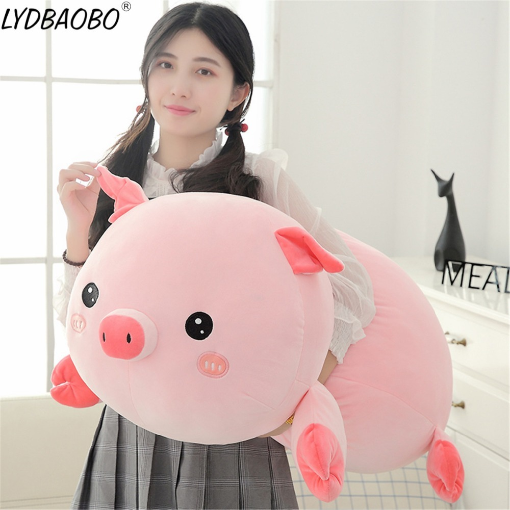 90cm Giant Cute Panda&Pig Animal Plush Baby Soft Stuffed Sofa Pillow Hand Warm D