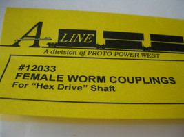 A-Line #12033 Female Worm Couplings Hex Drive Shaft similar Athearn #48061 image 2