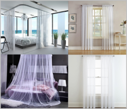 """2 Large White Lace Panels for Beds / Windows Curtain, each 110""""x 98"""" 280... - $24.99"""