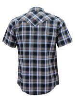 Men's Western Short Sleeve Button Down Casual Plaid Pearl Snap Cowboy Shirt image 13
