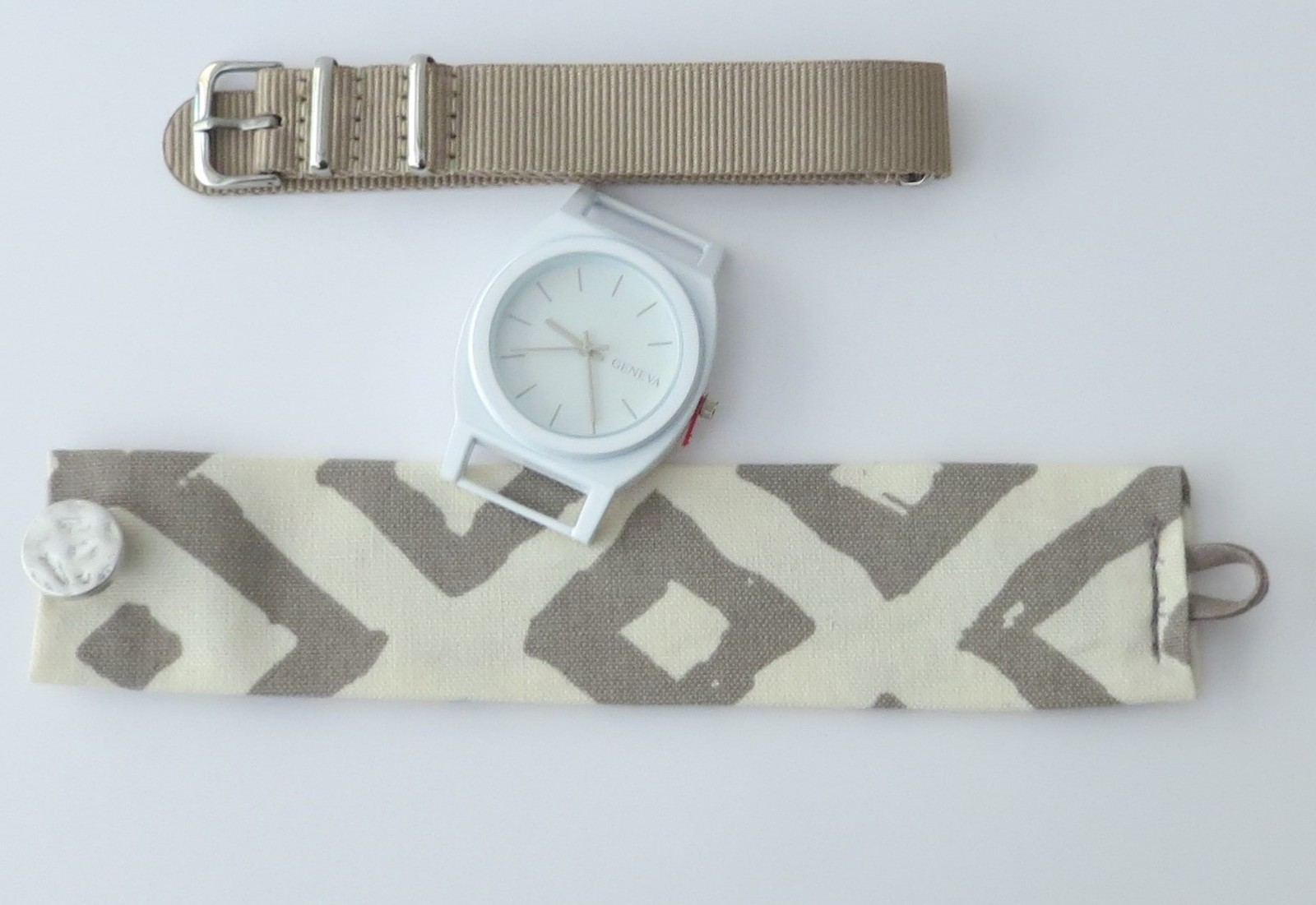 Wristwatch for woman, watch with two bands, unique design watch by redesign_byMJ