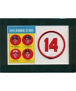 Pete Rose 1963 Topps Rookie Reprint #537 and Embroidered Patch Matted - ... - $19.31