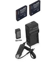 2 Batteries + Charger For Panasonic DMC-FS11P DMCFS11K DMC-FS11R DMC-FS11S - $44.80