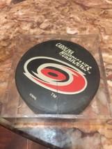 Carolina Hurricanes NHL Hockey Puck Small Logo with Name Game Souvenir - $9.75