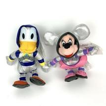"Vintage Disney Beanbag Plush Spaceman Donald Duck And Minnie Mouse 8"" Do... - $14.03"