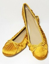 Ann Taylor Ballet Flats Gold Bow Slip on Casual Shoes Womens 7.5 New - $28.68