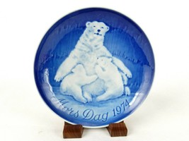 """Bing & Grondahl 6"""" Mother's Day Plate, Polar Bear Mom With 2 Cubs, 1974,... - $6.81"""